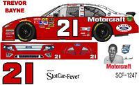 SCF1247 #21 Trevor Bayne Glen Wood 2012 Hall of Fame Ford
