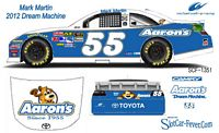 SCF1351 #55 Mark Martin 2012 Aaron's Dream Machine Camry