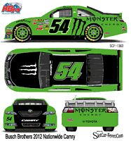 SCF1363 #54 Kyle & Kurt Busch Monster Nationwide Camry Fantasy car