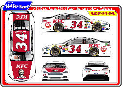 SCF1445 #34 David Ragan 2014 Fusion that ran in May at Talladega