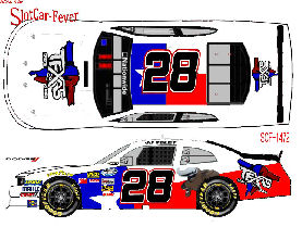 SCF1472 #28 JJ Yeley Texas 28 Spirits Stage Challenger