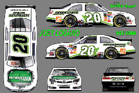 SCF1500 #20 Joey Logano 2012 Interstate Batteries Nationwide Camry