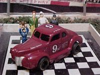 "1524SC #9 Bud Moore ""Legendary Flat Head Fords"" 1:64 Slot Car"