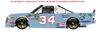 SCF1931 #34 Darrell Wallace Wendell Scott Hall Of Fame Toyota