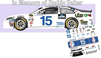 SCF2218 #15 Clint Bowyer Buddy Baker Throwback 2015 Camry