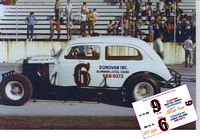 SCF2930 #6 Claude Donovan 1937 Ford Slantback at Knoxville Raceway, Tenn
