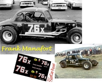 SCF_350 #76x Frank Manafort at Islip Speedway in 1967 with his Modified