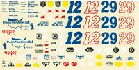 FCD_197 Decals to build '60s Indy Car driven by A.J. Foyt or Eddie Sachs
