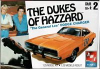 AMT_8597 AMT Dukes of Hazzard General Lee Dodge Charger (1:25)