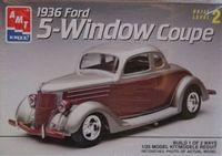AMT_6924 RARE! 1936 Ford 5-Window Coupe (1:25) (OB)