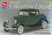 AMT_8214 '34 Ford 5-Window Coupe (1:25)