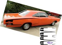 CA_007-C Dodge Super Bee stripes WHITE & BLACK