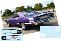 CA_008-C Dodge Super Bee stripes WHITE & BLACK