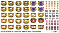 CA_003-C Contingency NASCAR Stickers