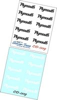 CD_009-C Plymouth rear quarter decals (10 Pair)