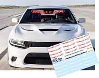 CD_032-C Dodge Charger Hellcat Windshield Stickers