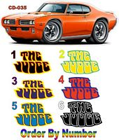 CD_035-C Pontiac GTO 'The Judge' Stickers (includes 8 stickers)