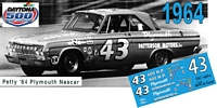 DC-1964  #43 Richard Petty 64 Plymouth