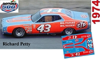 DC-1974  #43 Richard Petty STP 74 Dodge Charger