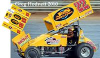 SC_037-C #22 Greg Hodnett 2010 Macri Concrete sprint car