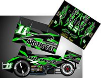 SC_042 #11x Kraig Kinser Arctic Cat  Sprint Car