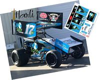 SC_088 #17W Harli White Cat Spot Sprint Car