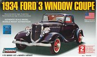 LIN_72133 1934 Ford 3 Window Coupe (1:32)