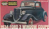 LL_09308 1934 Ford 3 Window Coupe (1:32)
