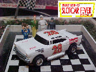 0824SC RTR #28 Fred Lorenzen '57 Chevy 1:64 scale slot car