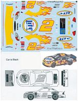 RUSTY_FLAMES #2 Rusty Wallace Miller Lite Ford Taurus