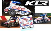 SC_156-C #01 Kyle Larson Lucas Oil/iRacing 2020 Chili Bowl Champion Midget
